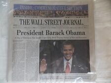 BARACK OBAMA - THE WALL STREET JOURNAL 2009 - Complete Newspaper & Never Read