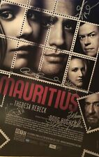 Cast Signed MAURITIUS Broadway Poster Windowcard Bobby Cannavale ++