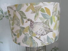 Handmade Drum Lampshade Voyage Partridge spring fabric 40 cm