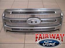 15 thru 17  F-150 OEM Ford Luxurious Chrome Platinum Grille w/o Emblem w/ CAMERA
