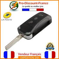 Coque Clé pour Porsche Cayenne Plip Télécommande + Lame HU66 Voiture Case