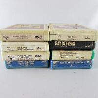 Lot of 8 soft Rock Roll Price Pure Prarie Clark Hall Ray Stevens 8 Track Tapes