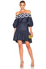 PETER PILOTTO Navy Off Shoulders Cotton Lace Pallas Dress Size US 6 UK 10 I 42