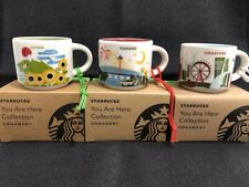 3 Starbucks Mug Ornament Set: Japan, Singapore, Danang Cup 2oz