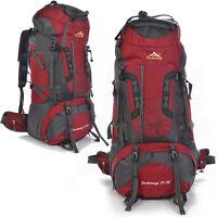 80L Waterproof Outdoor Sports Backpack Hiking Climbing Travel Internal Frame Bag