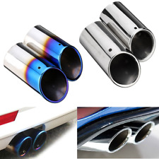 2x Stainless Steel Exhaust Tail Trim Pipe 60-62mm Dia For VW Golf Mk6 Mk7 Skoda