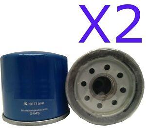 2X Oil Filter Suits Z445 NISSAN PULSAR N16 QG18DE 1.8L 4CYL Petrol 2004-2005