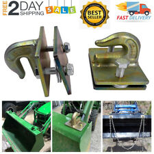 2x 38 Bolt On Grab Chain Hooks For Skid Steer Loader Tractor Bucket Heavy Duty