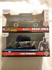 Jada Diecast Knight Rider K.I.T.T & Black Panther Lykan Hypersport lot