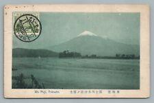 Mt. Fuji—Tokaido Japan Antique Postcard Stamp to Chicago—Michi Fukase 1930