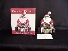 2007 Fitz & Floyd Christmas Stocking Stuffers Lidded Box ~ Nib!