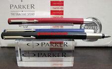 Parker fountain pen vector chrome trim CT F nib red blue black set lot new pluma