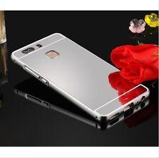 Aluminum Metal Bumper + PC Mirror Back Case cover For Huawei Ascend P8 P9 Lite