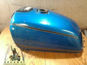 1976-77 SUZUKI GT500 GAS TANK FUEL TANK PETROL TANK RESERVOIR (BLUE)