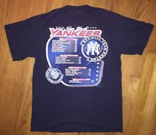 1999 New York Yankees T Shirt Lee Official Roster Back To Back World Series