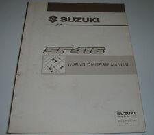 Wiring Diagram Manual Suzuki Swift SF 416 Werkstatthandbuch elektrische Pläne!