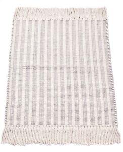 2x3 Ft Reversible Mat Traditional Runner Indoor Mat Wool Carpet White Small Rug