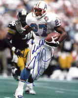 Eddie George autographed signed auto 1997 Tennessee Oilers 8x10 photo ScoreBoard