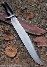 Hecho a mano cuchillo machete caza De Acero Damasco patrón de plumas de 17 pulgadas