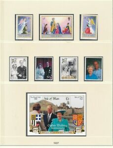 D208857 Isle of Man 1997 Nice selection of MNH stamps