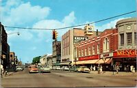 Postcard Washington Street, Looking North in Bay City, Michigan~135424