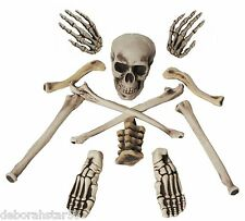 Skeleton Bones Halloween Pirate Table Decoration Party Prop Costume Toy