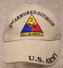 Embroidered Baseball Cap Military Army 2nd Armored Division NEW 1 size fits all