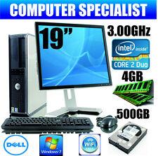 ORDENADOR PC DE ESCRITORIO COMPLETO CORE 2 DUO 3.00GHz y PANTALLA TFT 19'' 4GB