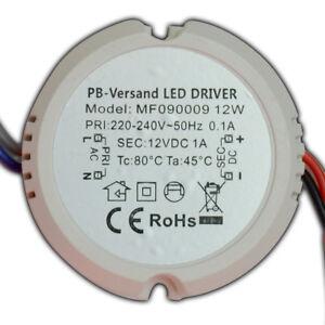 Mini LED Trafo 12 Watt 12V DC Netzteil Treiber Transformator Unterputzdose