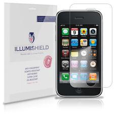 iLLumiShield Phone Screen Protector w Anti-Bubble/Print 3x for Apple iPhone 3GS