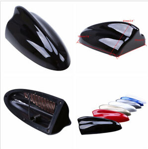 No Drilling Required Easy Installation Handy Car Shark Fin Roof Black Antenna