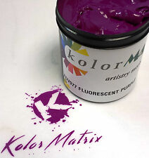 Super Opaque Fluorescent Purple Premium Plastisol Screenprint Ink PINT