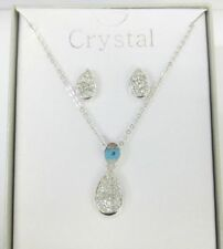 Pear Glass Silver Plated Costume Necklaces & Pendants