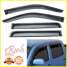 FOR 2015 2016 2017-2019 CHEVROLET COLORADO CREW ACRYLIC WINDOW VISOR DEFLECTORS