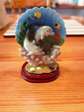 Dolphin Seashell Underwater Resin Mounted Vintage Ornament