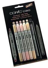 Copic CIAO Plumas - 5 + 1 juego de tonos de piel-Marcadores de Arte Gráfico + Fineliner