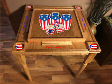Puerto Rico Flag Domino Table  with the Congas -MVP