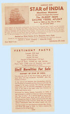 Advertising Flyer Star of India 1863 Sailing Ship Museum San Diego California