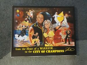 HINES WARD Pittsburgh Steelers Canvas Display Dancing With The Stars 24x19 RARE