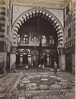Egitto Cairo Moschea Di Caid Bey Albumina Stampa Verso 1890 Piccolo Formato