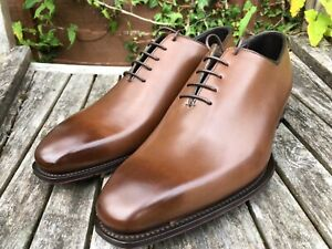 Men's - George Cleverley - Kingsman - Brown  Whole Cut Oxford Shoes - UK 8