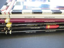 VINTAGE DUPONT REGISTRY AUTOMOBILE MAGAZINES 1995 LOT (6 ISSUES)