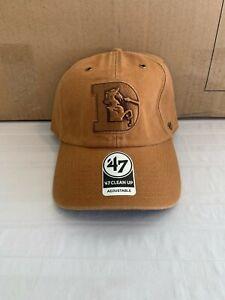 Denver Broncos Throwback NFL '47 Brand Carhartt Brown Clean Up Adjustable Hat