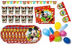 Mickey Mouse - Kindergeburtstags-Set II (50-teilig) Birthday Kids Disney Deco