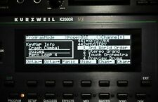 Kurzweil K2000 K2000R K2VX K2000VP K2000VPR Custom (Negative) LED Display !