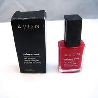 "Avon NAILWEAR PRO Nail Enamel ""RED REVEAL"" 12 ml 0.4 oz NEW NIB imp"