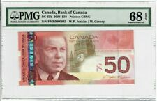 Canada $50 Banknote 2008 BC-65b PMG Superb GEM UNC 68 EPQ - Low Serial Number