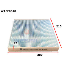 WESFIL CABIN AIR FILTER MAZDA2 2002-2007 MAZDA6 2002-2012 CX-7 WACF0018