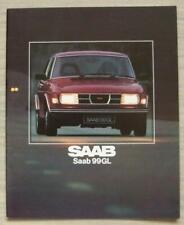 SAAB 99 GL UK Car Sales Brochure 1979 #207233