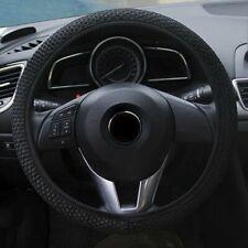 Car Auto Steering Wheel Cover Microfiber Breathable Anti-slip 15''/38cm - Black